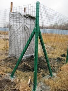 забор из сетки сварной с пвх покрытием